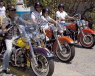 Harley Davidsons Classic Riders in Cuba