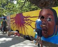 Santiago de Cuba continues covering in murals regarding XIII InterUs