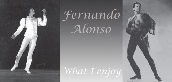 Fernando Alonso What I enjoy