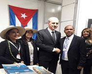 Turkish Minister visits Cuban stand in fair of tourism